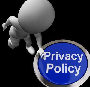 Privacy Policy Button Showing The Company Data Protection Terms